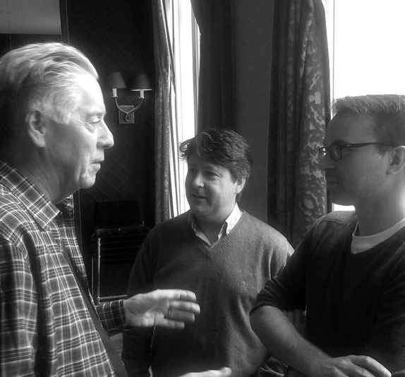 Alan Silvestri discussing music with Bartosch McCarthy & composer Christopher Slaski.