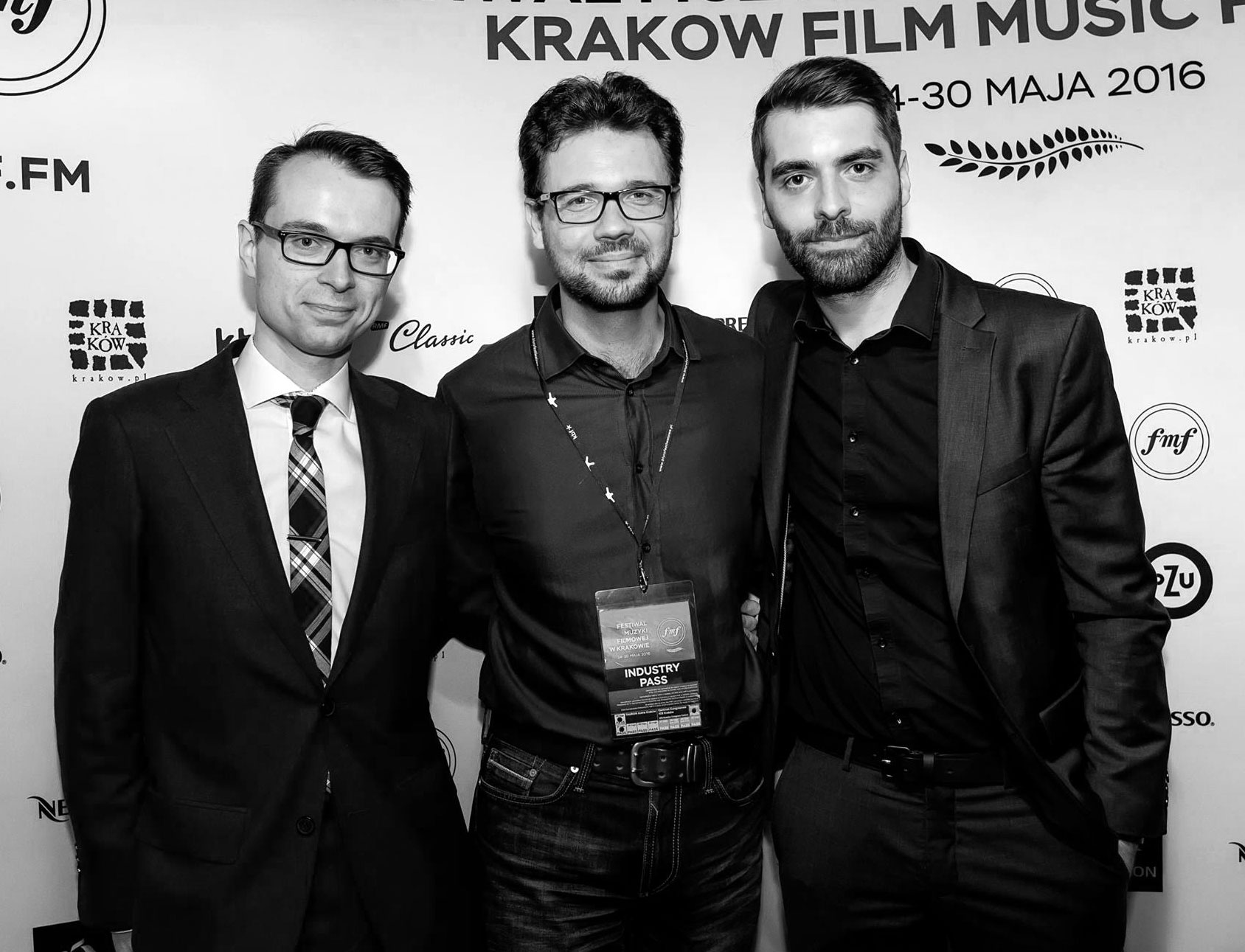 Benoit with Oticons Faculty & Krakow FMF Awards winner Bartosch McCarthy, accompanied by George Christopoulos